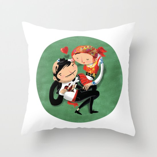 Manel & Maria (Etnography Portuguese People) Throw Pillow