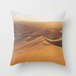 Sunset in the Sahara Desert Throw Pillow