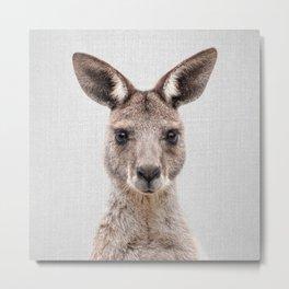 Kangaroo 2 - Colorful Metal Print