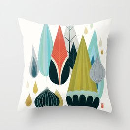 Mod Drops Throw Pillow