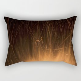 Sparks from a Bonfire Rectangular Pillow