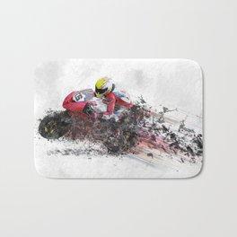 High Speed Motorcycle Racer Bath Mat