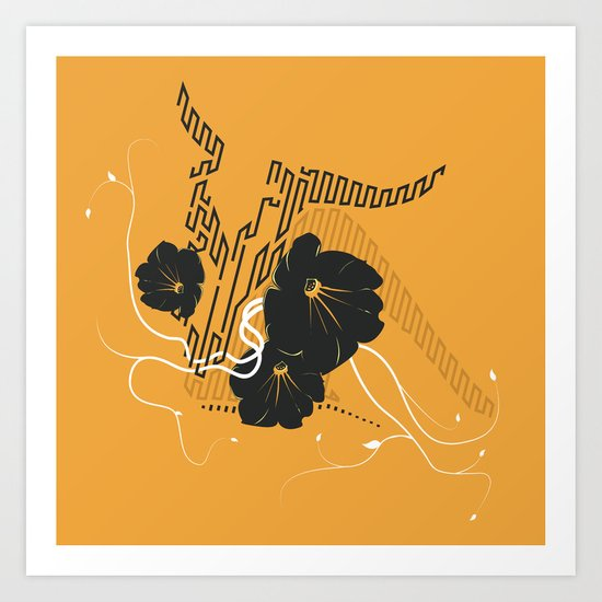 Untitled Art - Orange Art Print