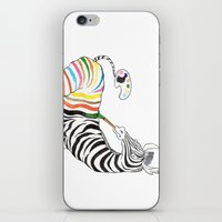 zebra iPhone & iPod Skins featuring Zebra by gunberk