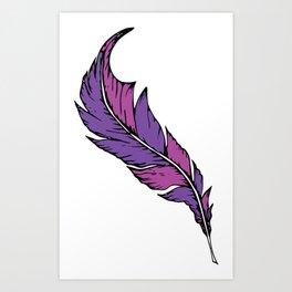 Boho Feather Art Print