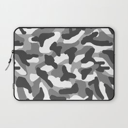 Grey Gray Camo Camouflage Laptop Sleeve