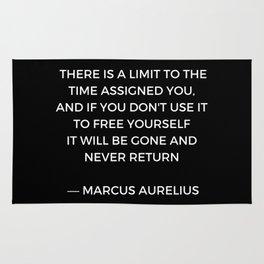 Stoic Inspiration - Marcus Aurelius on Time Rug