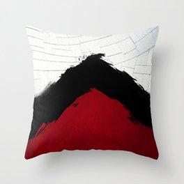 BLOOD RED RIBBON Throw Pillow