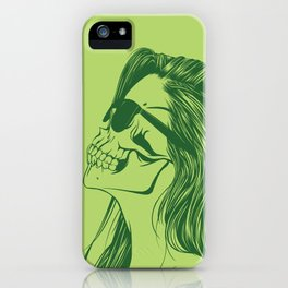Skull Girl 2 iPhone Case