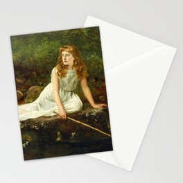 "John Collier ""The Butterfly inscribed 'Portrait of Mabel...'"" Stationery Cards"