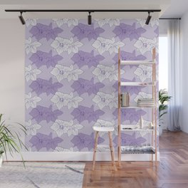 Purple Hellebores Wall Mural