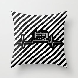 Sewing Heartbeat Pulse Sewing Machine Lover Throw Pillow