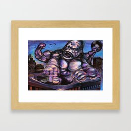 Gorilla King Massive Framed Art Print
