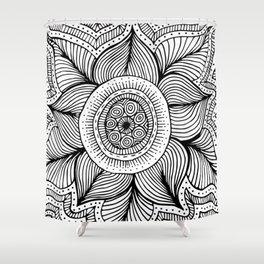 Doodle Flower Shower Curtain