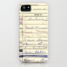 Library Card 780 The Wonderful World of Music iPhone Case