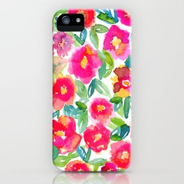 Hot Floral Mess iPhone Case