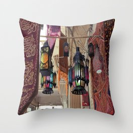 Arabian Lanterns  Throw Pillow