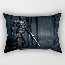 """You're trapped. There's nowhere to run"". Rectangular Pillow"