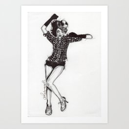 Cameo 2 Art Print