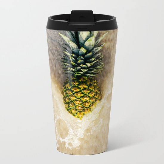 Pineapple Love Metal Travel Mug