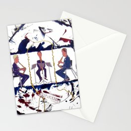 MOZART:  Divertimento for three Basset Horns     by Kay Lipton Stationery Cards