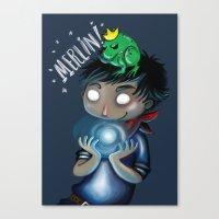 merlin Canvas Prints featuring Merlin!!! by Fla'Fla'