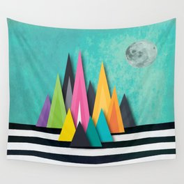 Prison Stripe Mountains Wall Tapestry