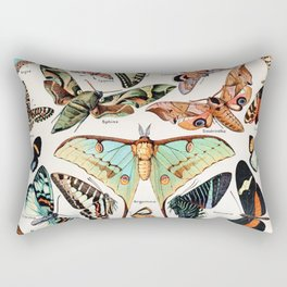Adolphe Millot - Papillons pour tous - French vintage poster Rectangular Pillow
