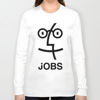 steve jobs Long Sleeve T-shirts featuring JOBS by Mr. Pandastic