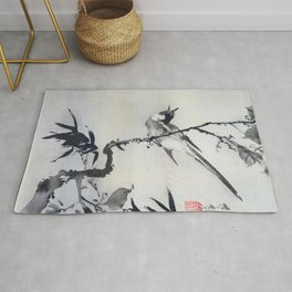 Singing Bird On A Branch - Digital Remastered Edition Rug
