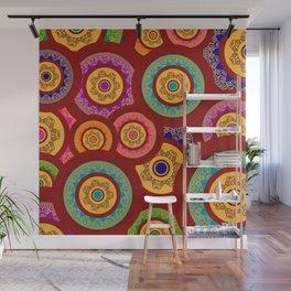 Colorful Indian Henna Mandala Pattern Wall Mural