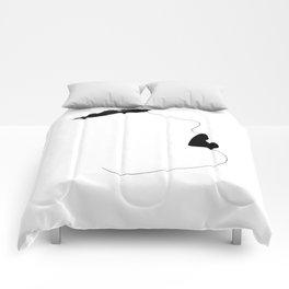 Watercolor brow Comforters