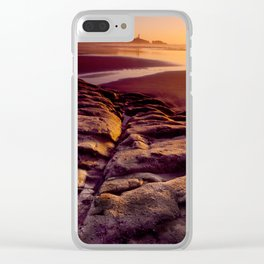 StarFishCoveSunset Clear iPhone Case