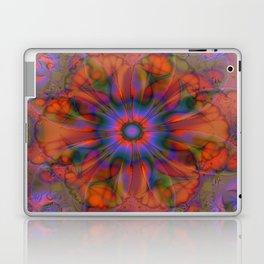 Sacred Geometry Art- Fractal Art- Delphinian- Orange Art- Flower- Energy Art- Purple Art Laptop & iPad Skin