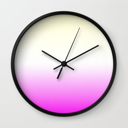 Pink White Yellow Gradient Wall Clock