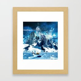 H.P. Lovecraft At the Mountains of Madness Framed Art Print