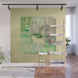 Green dreams of a little abstract forest Wall Mural