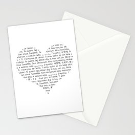 I love You (In 20 Languages) Stationery Cards