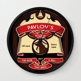 Pavlov's Conditioner Wall Clock