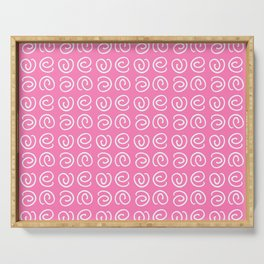 Spiral 6- pink Serving Tray