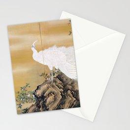 Mochizuki Gyokkei White Peafowl Stationery Cards