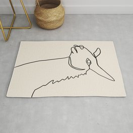 Llama One Continuous Line Rug
