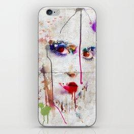 Drip face iPhone Skin