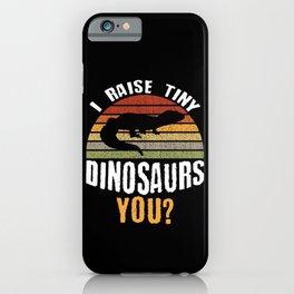 Funny Leopard Gecko Pet Lizard Retro Reptile Gift iPhone Case