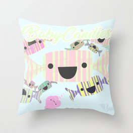 Baby Candies Throw Pillow
