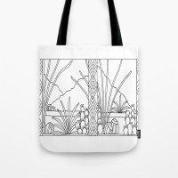 desert Tote Bags featuring Desert by Abundance