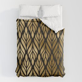 Havana Sultry Night Gold and Black Art Deco Comforters