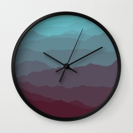 Ombré Range No. 1 Wall Clock