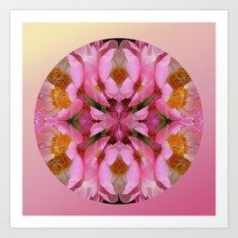 Peony Mandala Art Print