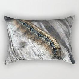 Caterpillar (Blue and Gold) Rectangular Pillow